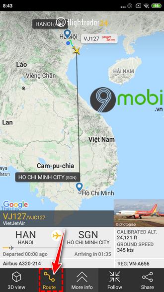 huong dan su dung flightradar24 ung dung theo doi chuyen bay 13