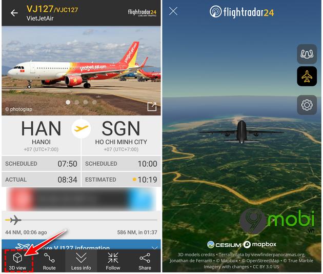 huong dan su dung flightradar24 ung dung theo doi chuyen bay 10
