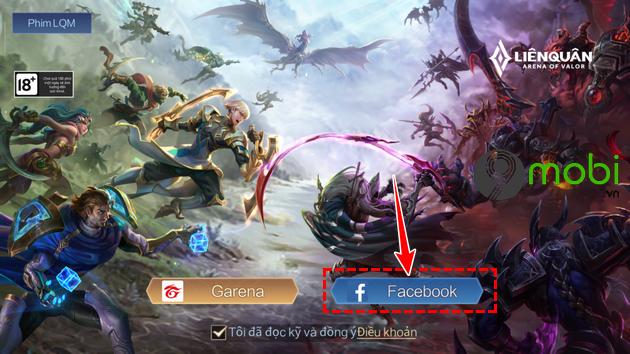 dang nhap lien quan mobile bang tai khoan facebook