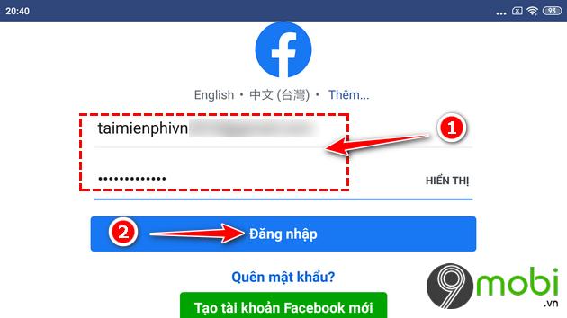 huong dan dang nhap lien quan mobile bang tai khoan facebook