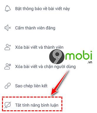 cach tat binh luan nhom facebook tren dien thoai 3