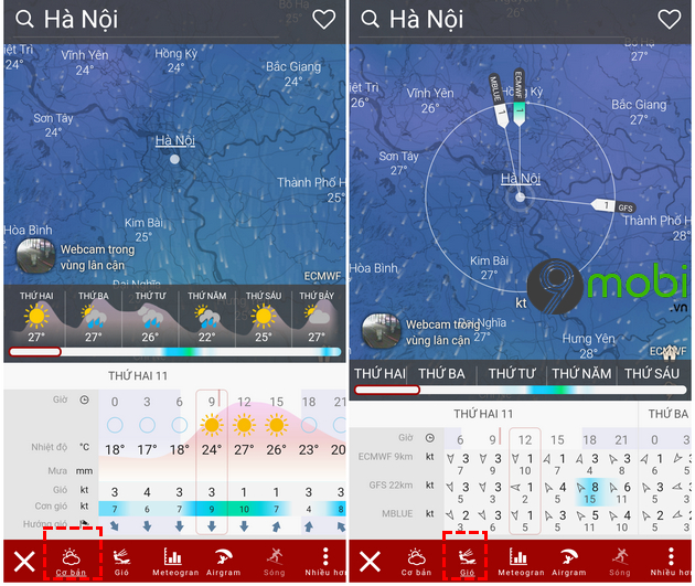 cai dat ung dung windy tren dien thoai android