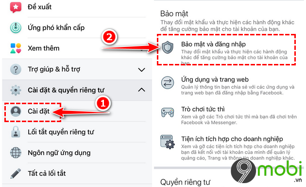dang xuat messenger tren iphone