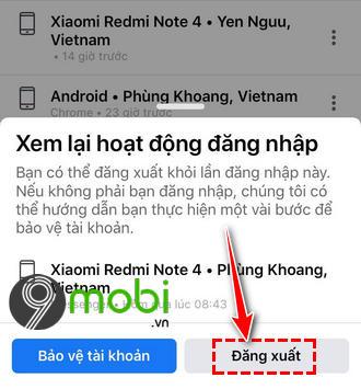 cach dang xuat messenger tren dien thoai android iphone khong can xoa ung dung 5