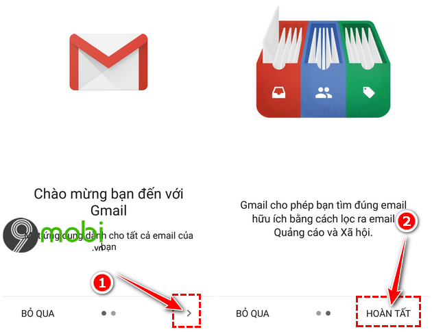 huong dan dang nhap gmail tren dien thoai android