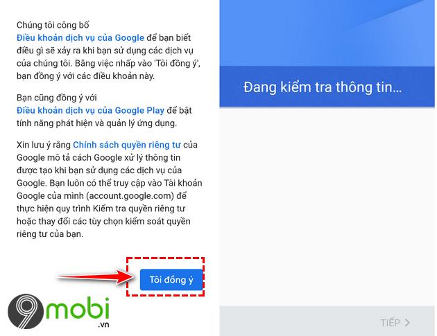 cach dang nhap gmail tren dien thoai android 6