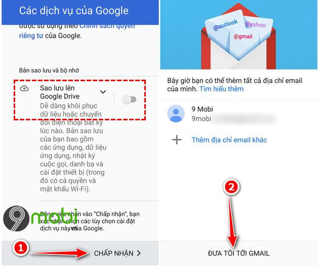 cach dang nhap gmail tren dien thoai android 7