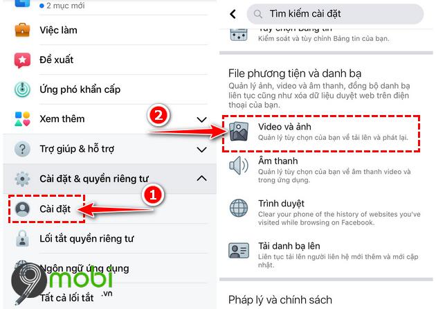 dang video 4k len facebook tren dien thoai iphone