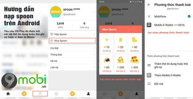 cach nap spoon radio tren android
