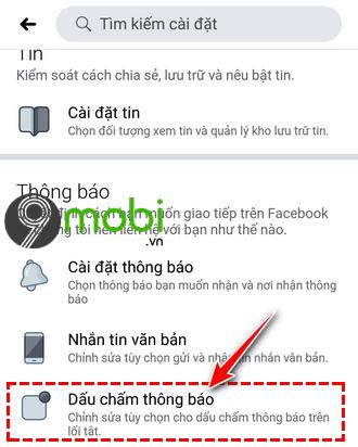 huong dan an dau cham thong bao tren facebook