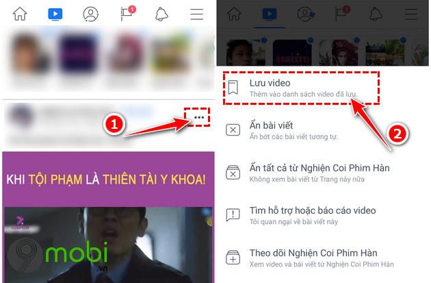 Cách xem lại video đã lưu trên Facebook dành cho Android, iOS