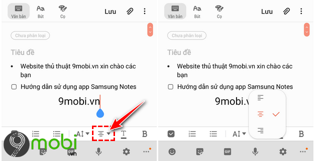 ung dun samsung notes
