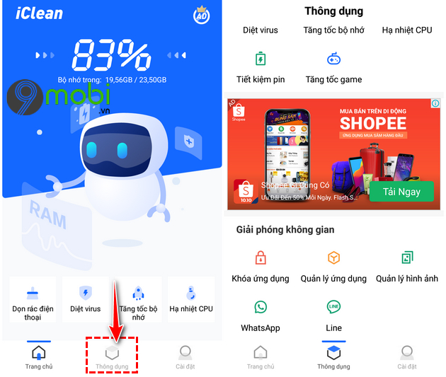 cach su dung ung dung iclean giup dien thoai android muot hon 12