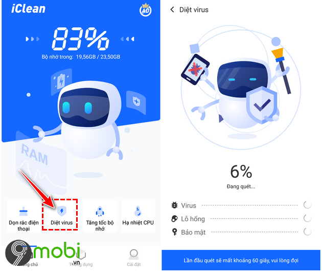 cach su dung ung dung iclean giup dien thoai android muot hon 9