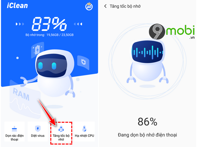 cach su dung ung dung iclean giup dien thoai android muot hon 10