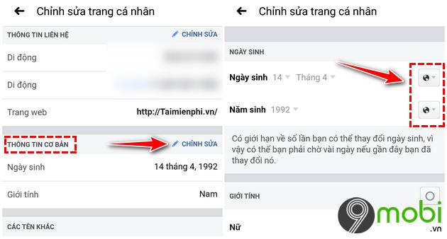 an thong bao sinh nhat tren facebook