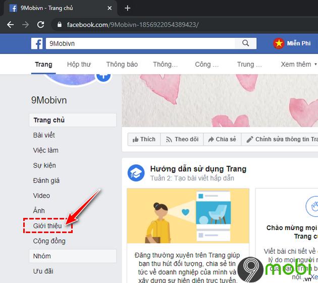 huong dan thay doi url fanpage facebook