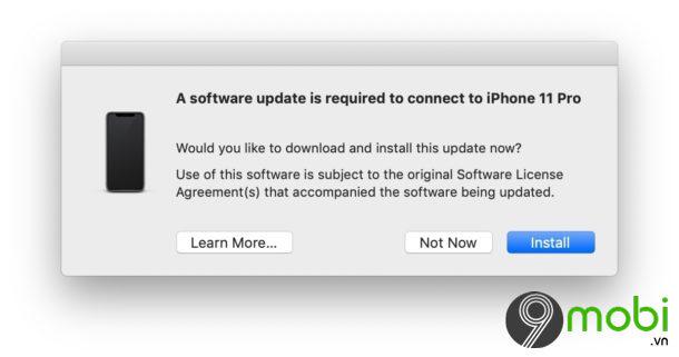 iphone 11 khong ket noi duoc itunes tren macbook