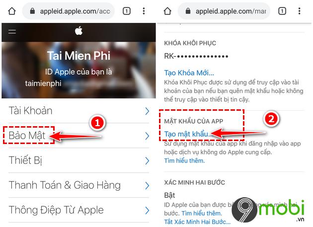 dang nhap tai khoan email icloud vao dien thoai android