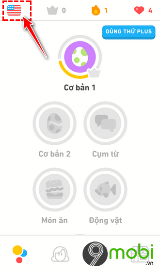 ung dung hoc tieng anh mien phi duolingo