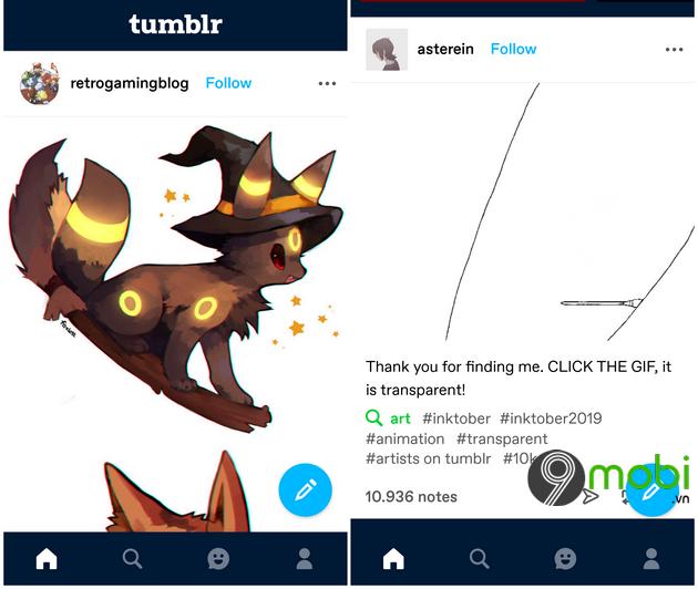 cai dat tumblr tren android iphone