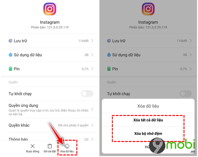 huong dan sua loi may anh tren ung dung instagram cho android