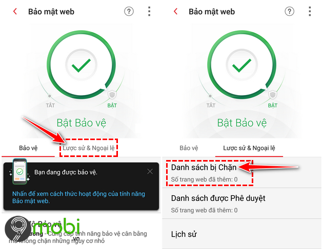 cach chan websites tren dien thoai android 7