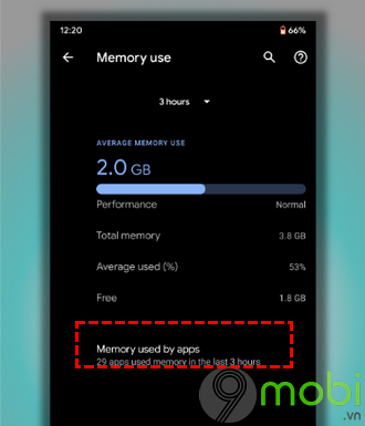cach check ram usage tren android 10 3