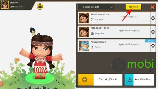 huong dan mo cua hang npc trong mini world 3
