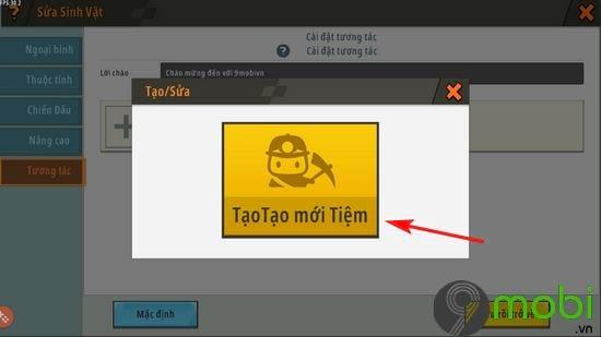 huong dan mo cua hang npc trong mini world 7