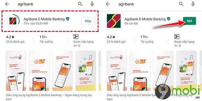 Cách tải và cài các ứng dụng Agribank lên Smartphone