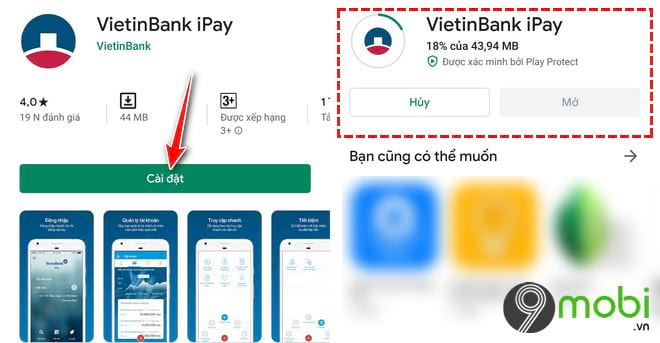Cách tải và cài các ứng dụng VietinBank lên Smartphone