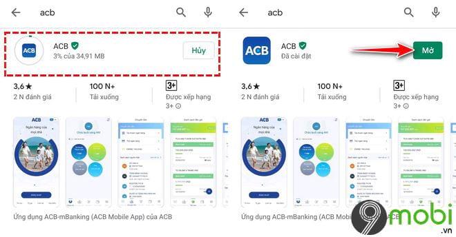 Cách tải và cài các ứng dụng ACB lên Android, iOS