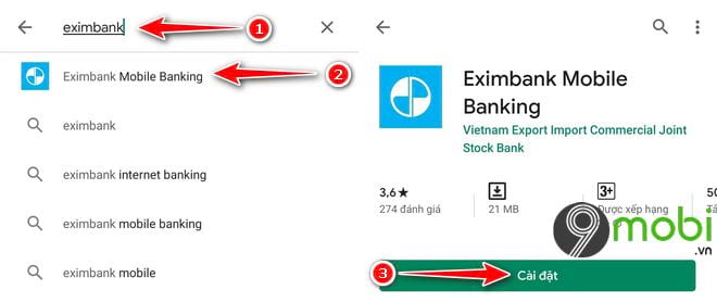 Cách tải và cài các ứng dụng Eximbank lên điện thoại