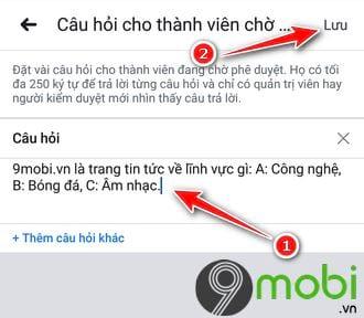 cach dat cau hoi cho thanh vien muon vao group facebook tren dien thoai 4