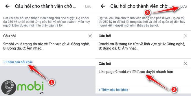 cach dat cau hoi cho thanh vien muon vao group facebook tren dien thoai 5