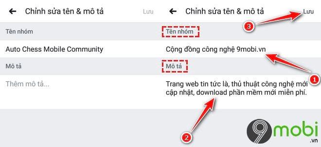 Cách thay đổi tên nhóm Facebook trên điện thoại