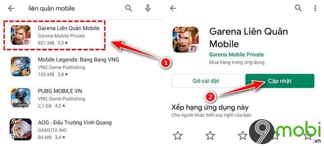 cach cap nhat lien quan mobile 3