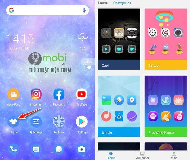 cach cai giao dien android 10 len dien thoai android bat ky 11