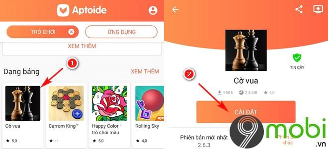 huong dan tai ung dung game tren aptoide for android 9
