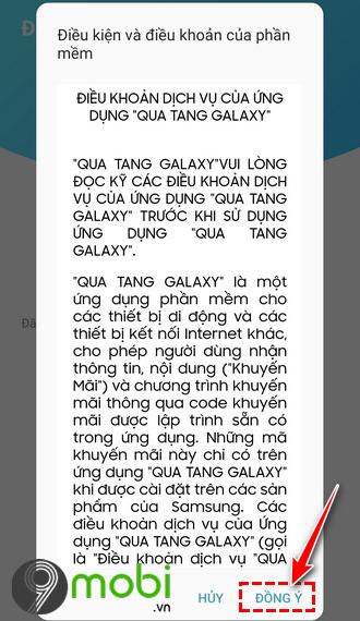 nhan voucher tren ung dung qua tang galaxy