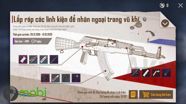 skin dan bac akm silver bullet game pubg mobile