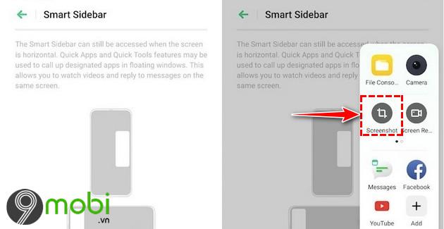 Cách chụp màn hình Realme 5i bằng phím cứng, Assistive Ball, Smart Sid