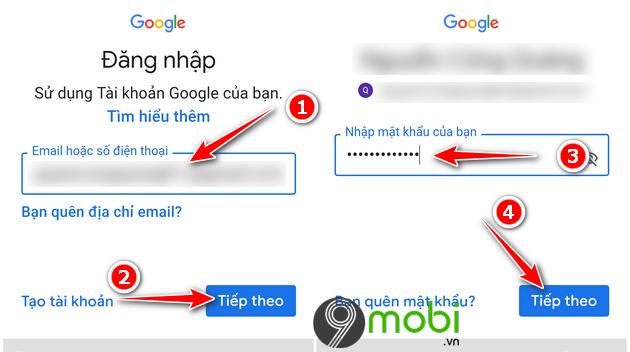 huong dan dang nhap gmail dien thoai samsung