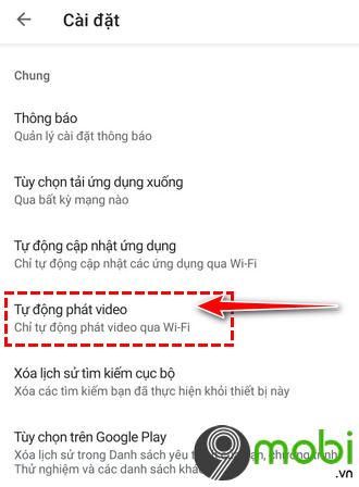 huong dan tat che do tu dong xem video trong google play