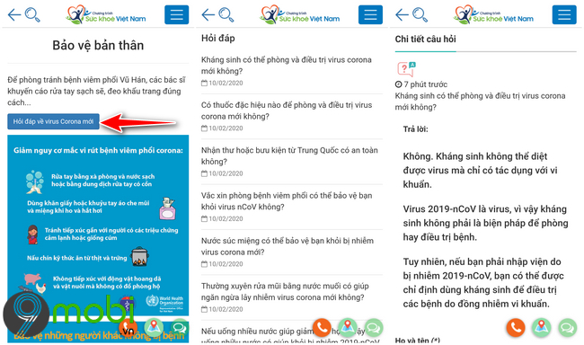 ung dung suc khoe viet nam cho android