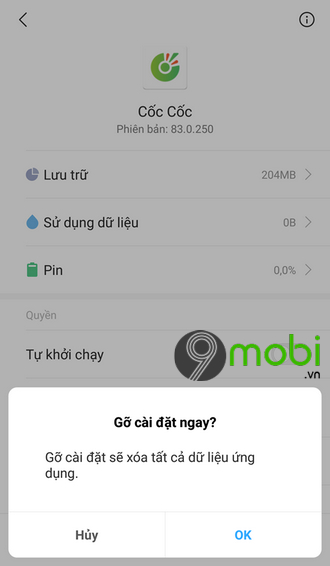 ung dung tu thoat tren android