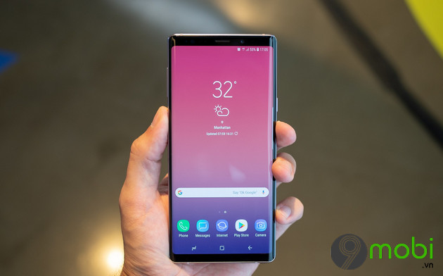 man hinh samsung galaxy note 9