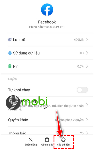 dien thoai khong vao duoc facebook