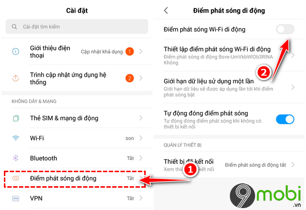 cach bat phat wifi tren android